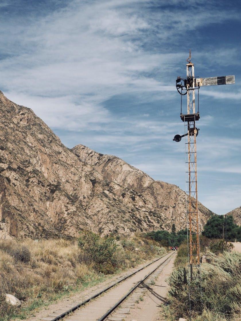 Wijnregio Mendoza: treinrails
